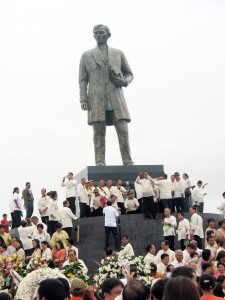 This is the world's tallest Jose Rizal monument which was unveiled during the Palarong Pambansa 2014 hosted by Laguna.